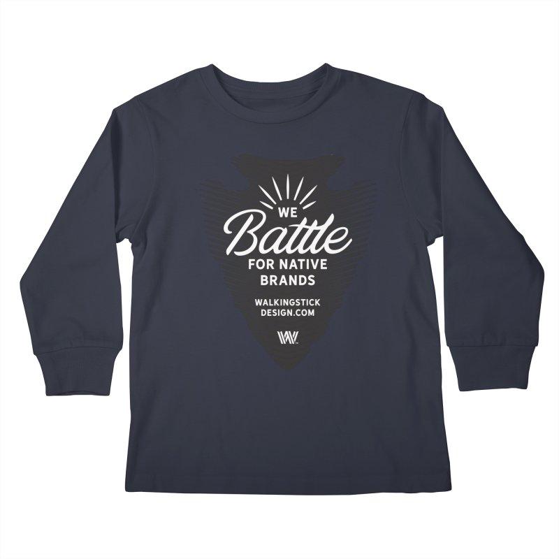 Arrowhead - WalkingStick Design Co. Kids Longsleeve T-Shirt by WalkingStick Design's Artist Shop