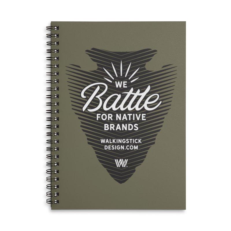 Arrowhead + WalkingStick Design Co. Accessories Lined Spiral Notebook by WalkingStick Design's Artist Shop