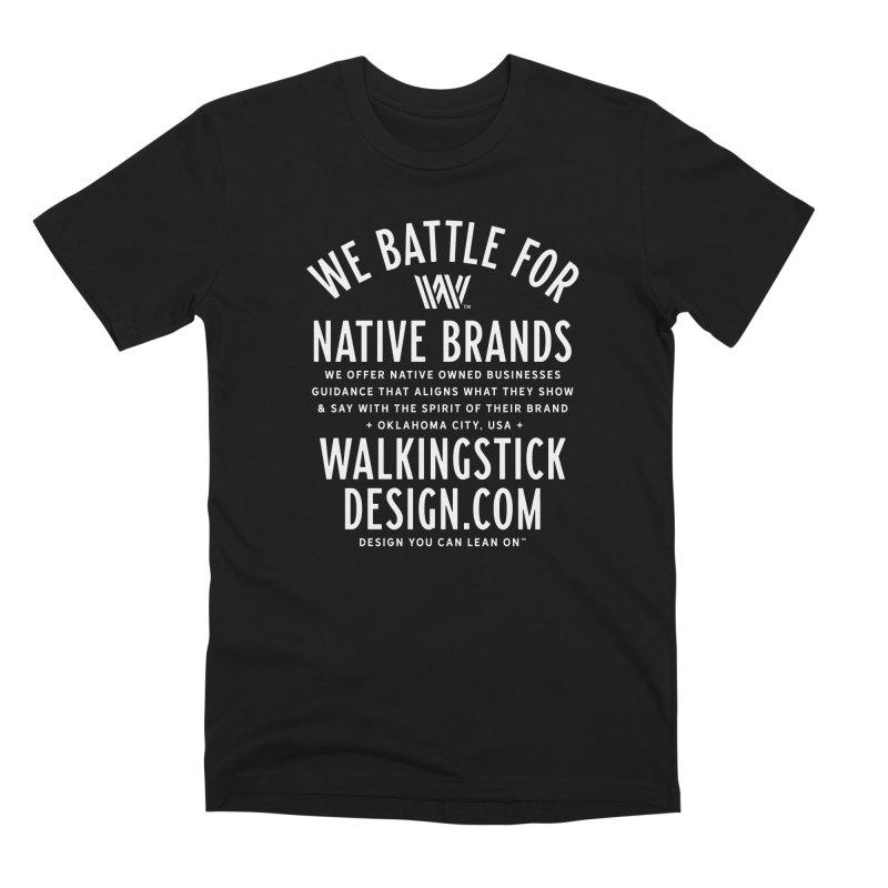 Label  + WalkingStick Design Co. Men's Premium T-Shirt by WalkingStick Design's Artist Shop