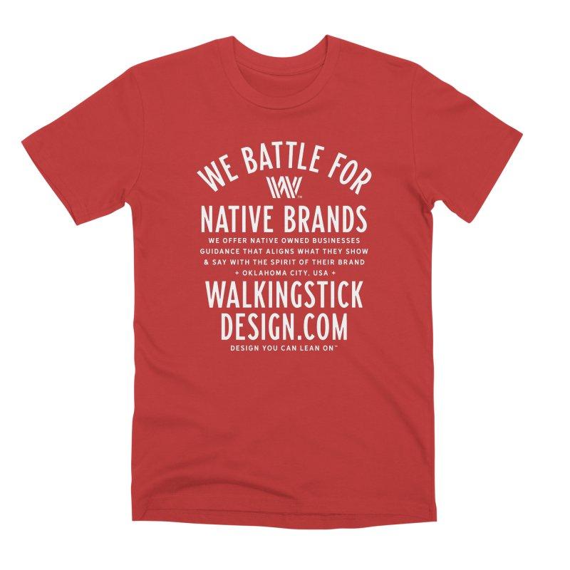 Label - WalkingStick Design Co. Men's Premium T-Shirt by WalkingStick Design's Artist Shop