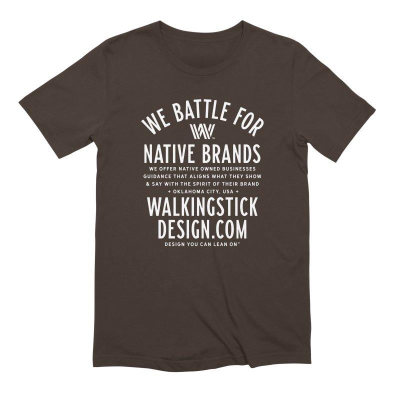 Label  + WalkingStick Design Co. Men's Extra Soft T-Shirt by WalkingStick Design's Artist Shop