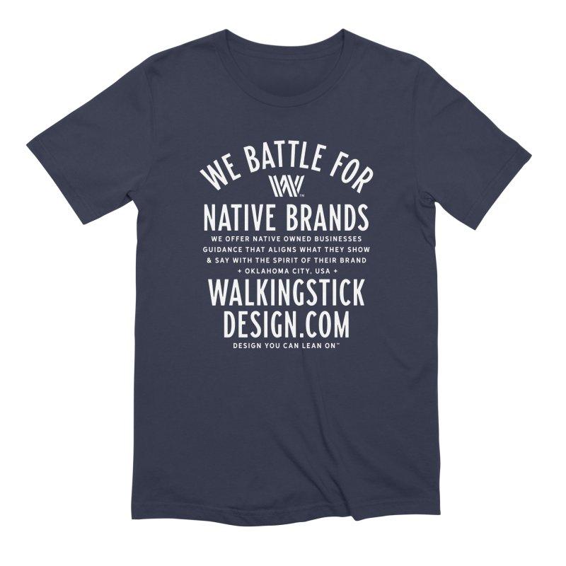 Label - WalkingStick Design Co. Men's Extra Soft T-Shirt by WalkingStick Design's Artist Shop