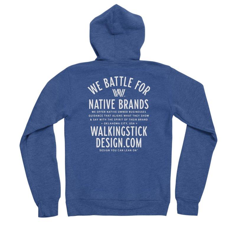 Label  + WalkingStick Design Co. Women's Sponge Fleece Zip-Up Hoody by WalkingStick Design's Artist Shop