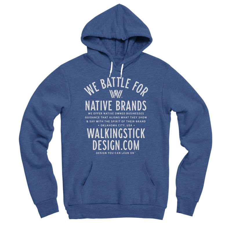 Label  + WalkingStick Design Co. Men's Sponge Fleece Pullover Hoody by WalkingStick Design's Artist Shop