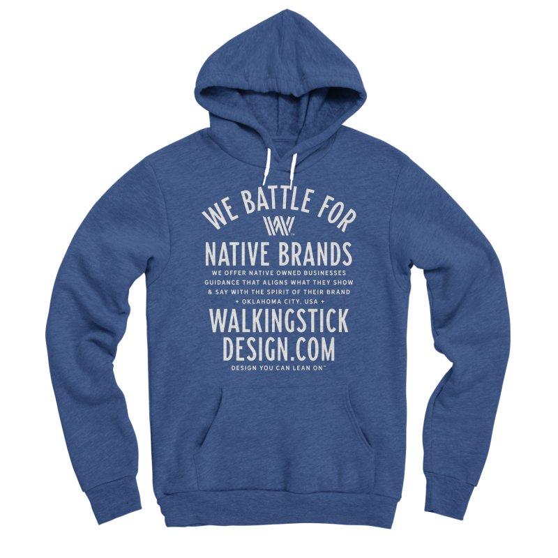 Label  + WalkingStick Design Co. Women's Sponge Fleece Pullover Hoody by WalkingStick Design's Artist Shop