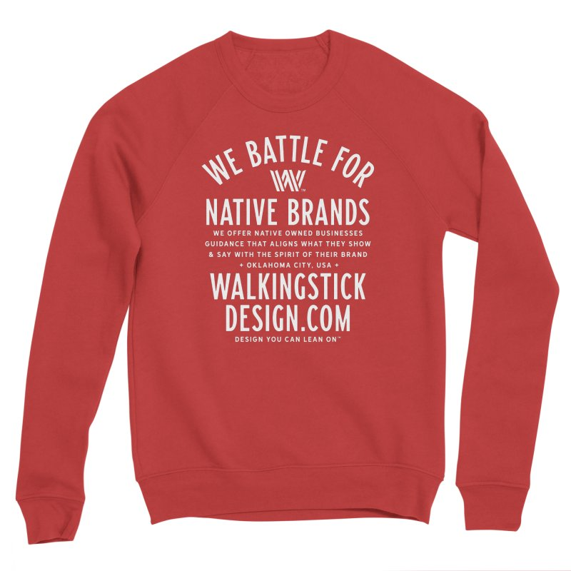 Label - WalkingStick Design Co. Men's Sponge Fleece Sweatshirt by WalkingStick Design's Artist Shop
