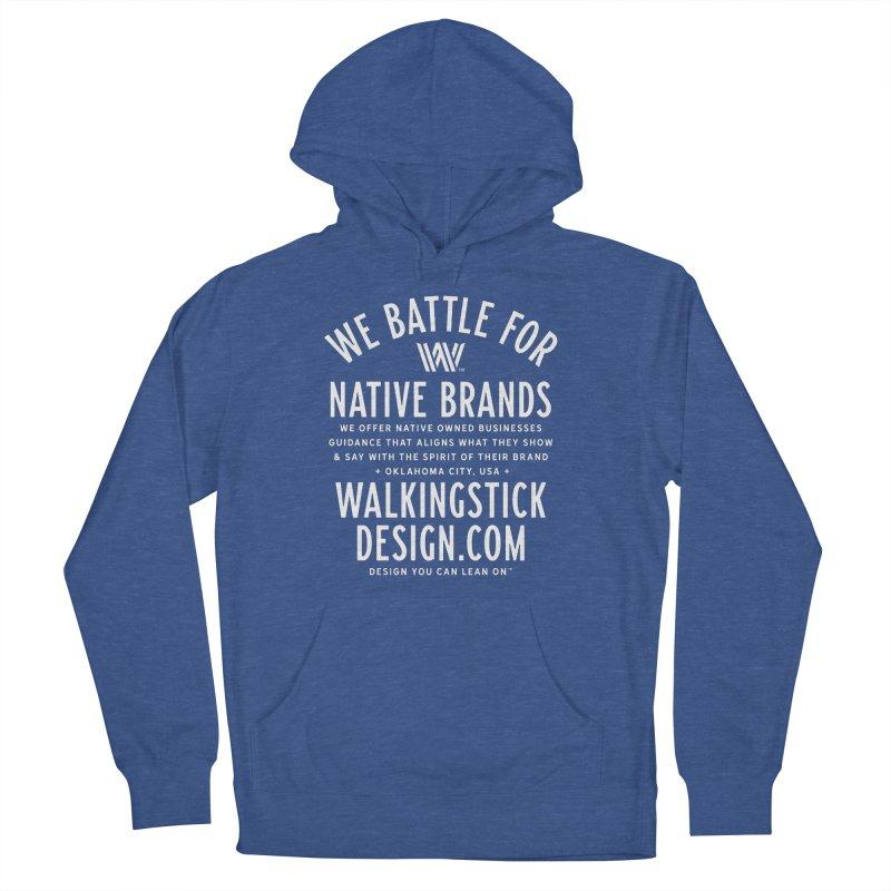Label  + WalkingStick Design Co. Women's French Terry Pullover Hoody by WalkingStick Design's Artist Shop