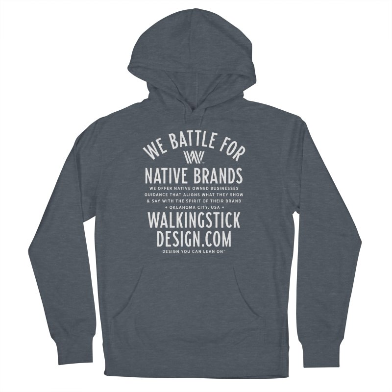 Label  + WalkingStick Design Co. Women's French Terry Pullover Hoody by WalkingStick Design's Artist Shop