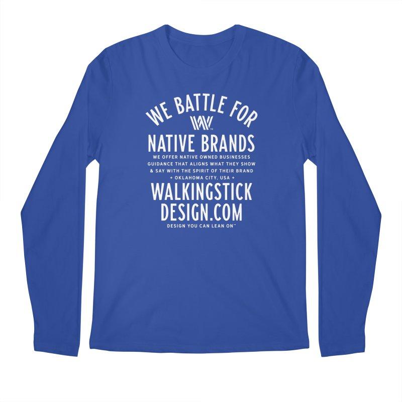 Label  + WalkingStick Design Co. Men's Regular Longsleeve T-Shirt by WalkingStick Design's Artist Shop