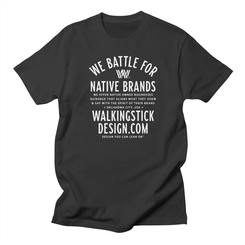 Label  + WalkingStick Design Co. Men's Regular T-Shirt by WalkingStick Design's Artist Shop