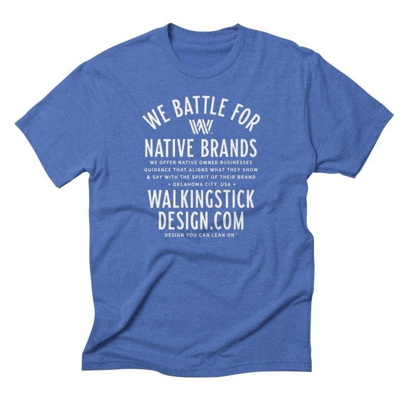 Label  + WalkingStick Design Co. Men's Triblend T-Shirt by WalkingStick Design's Artist Shop