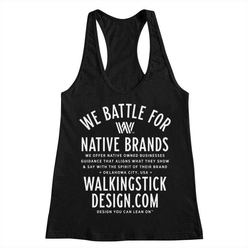 Label  + WalkingStick Design Co. Women's Racerback Tank by WalkingStick Design's Artist Shop