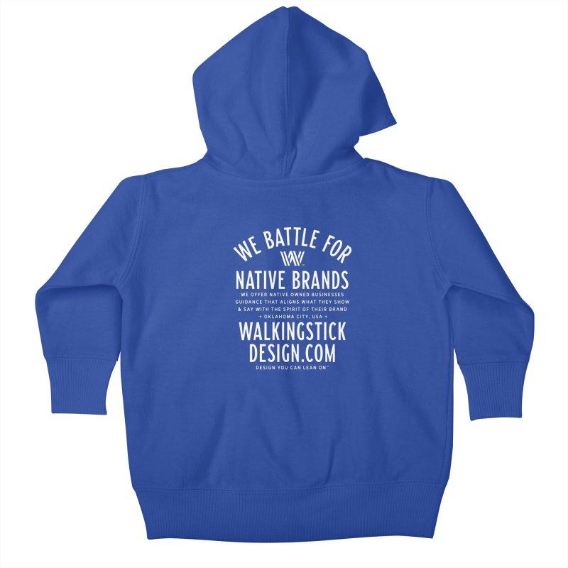 Label  + WalkingStick Design Co. Kids Baby Zip-Up Hoody by WalkingStick Design's Artist Shop