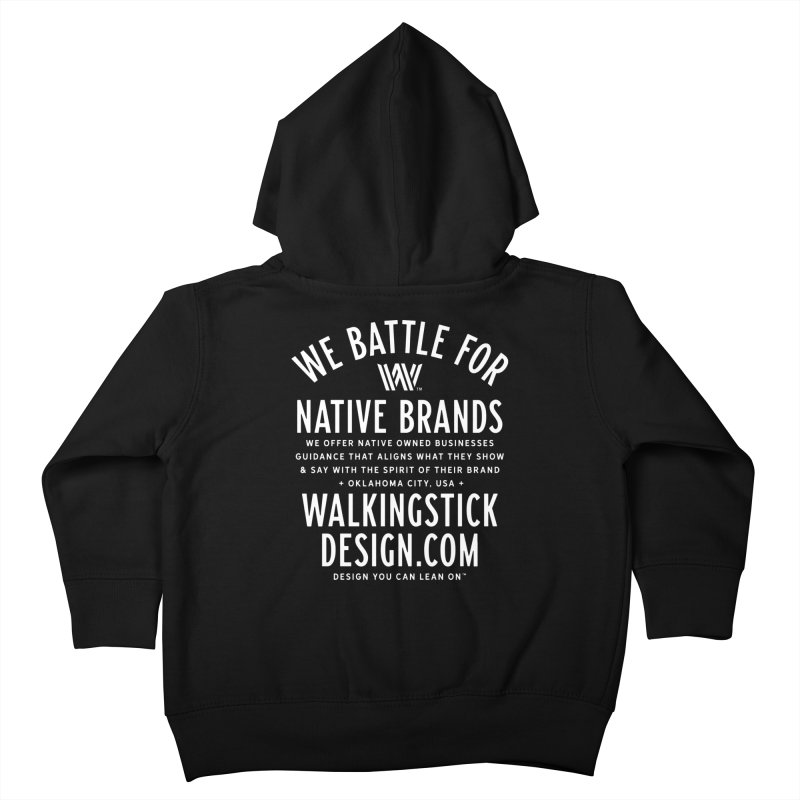Label  + WalkingStick Design Co. Kids Toddler Zip-Up Hoody by WalkingStick Design's Artist Shop