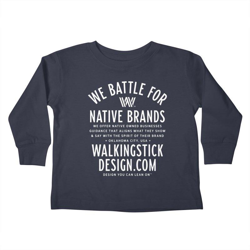 Label - WalkingStick Design Co. Kids Toddler Longsleeve T-Shirt by WalkingStick Design's Artist Shop