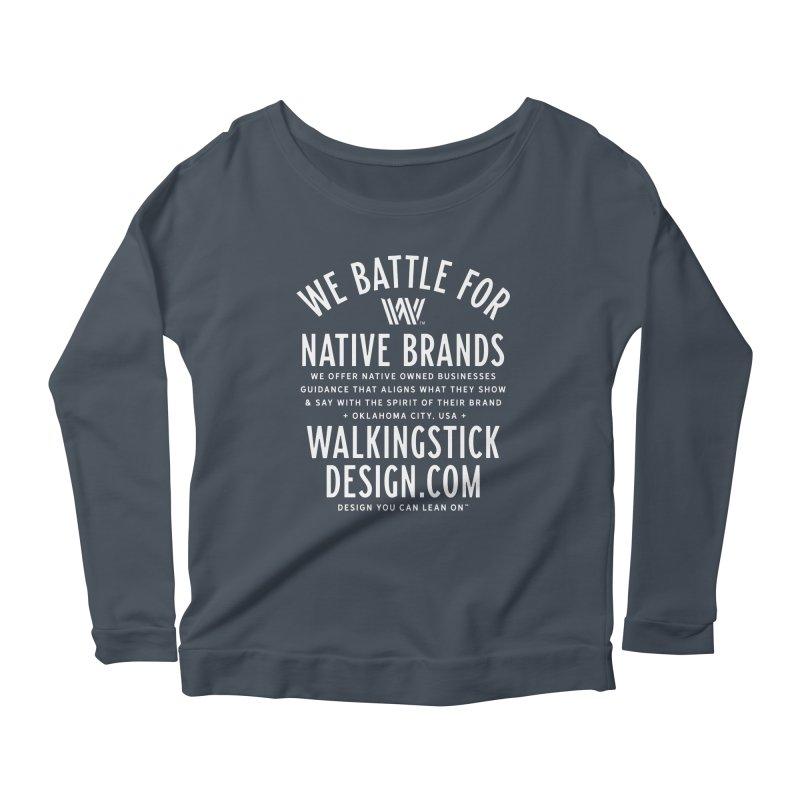 Label  + WalkingStick Design Co. Women's Scoop Neck Longsleeve T-Shirt by WalkingStick Design's Artist Shop