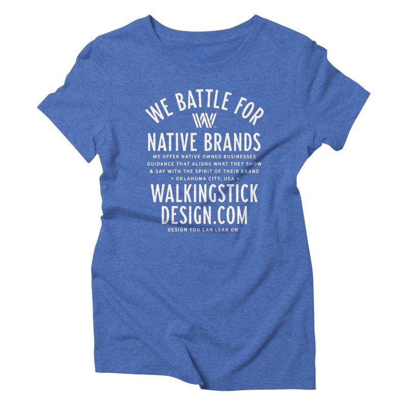 Label  + WalkingStick Design Co. Women's Triblend T-Shirt by WalkingStick Design's Artist Shop