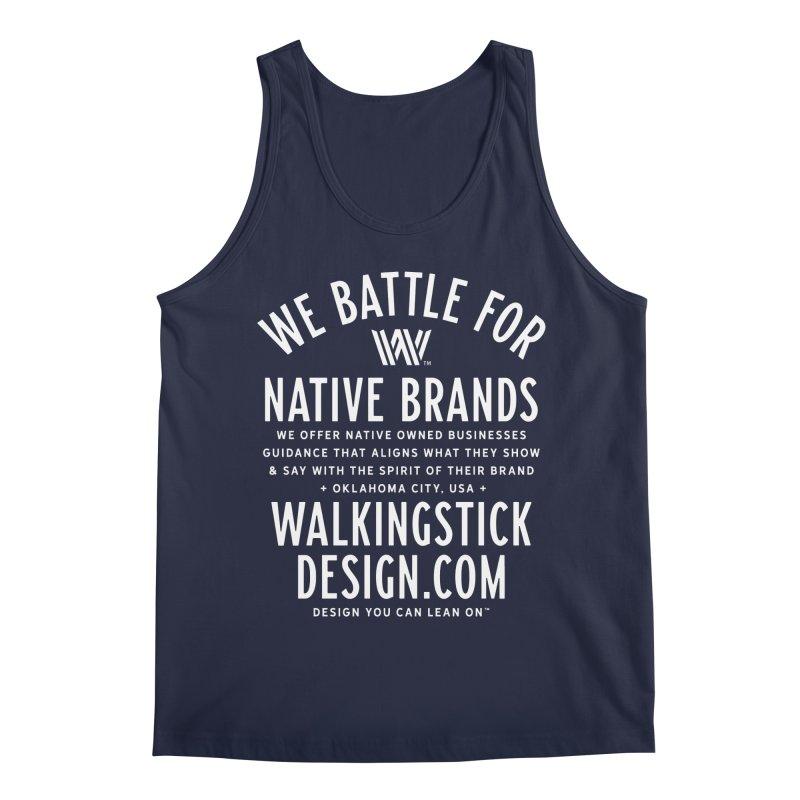 Label  + WalkingStick Design Co. Men's Regular Tank by WalkingStick Design's Artist Shop