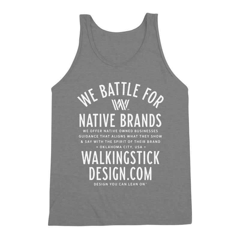 Label  + WalkingStick Design Co. Men's Triblend Tank by WalkingStick Design's Artist Shop