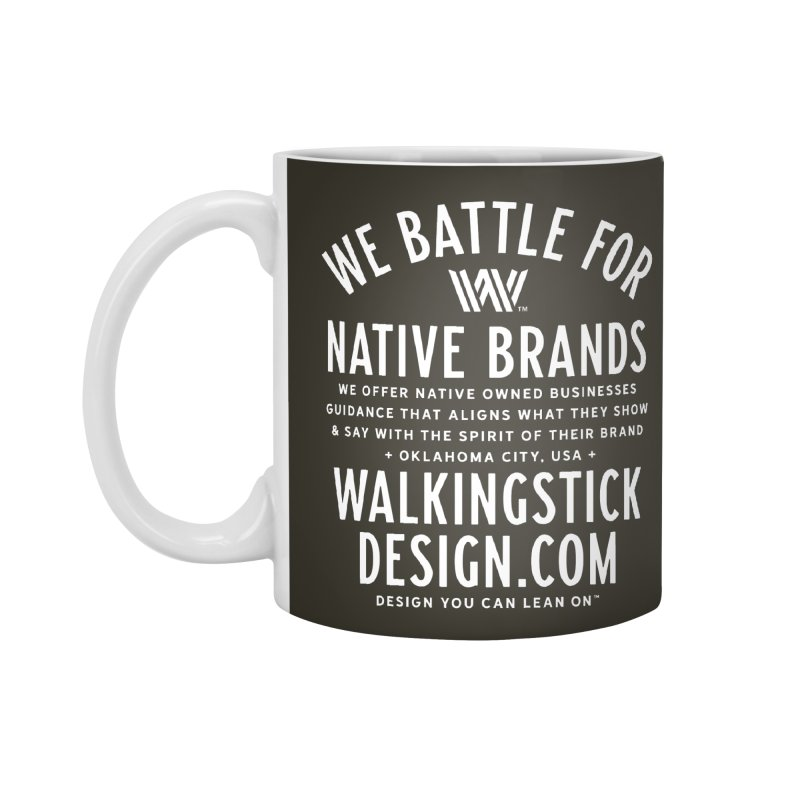 Label  + WalkingStick Design Co. Accessories Standard Mug by WalkingStick Design's Artist Shop