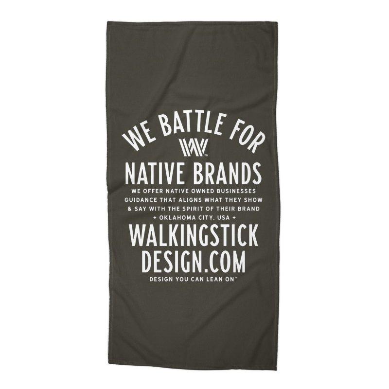Label  + WalkingStick Design Co. Accessories Beach Towel by WalkingStick Design's Artist Shop