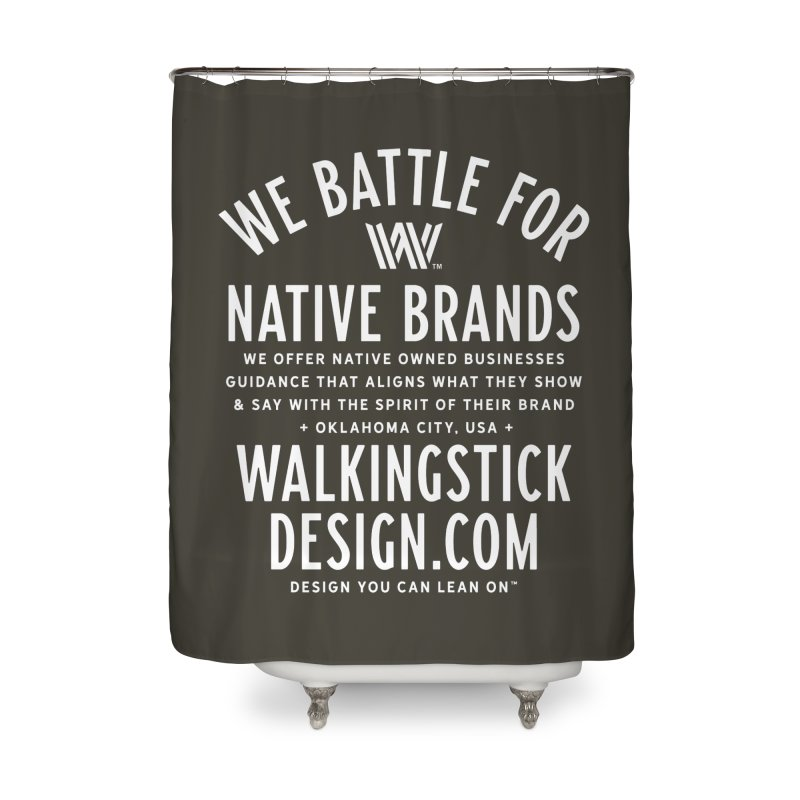 Label  + WalkingStick Design Co. Home Shower Curtain by WalkingStick Design's Artist Shop