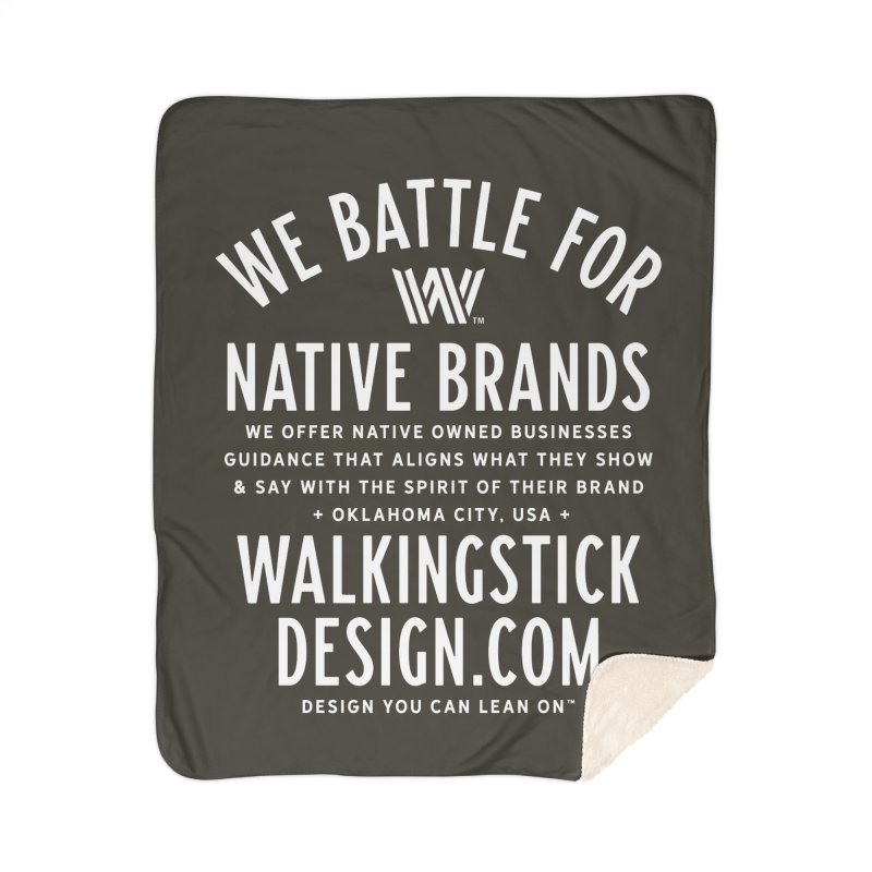 Label  + WalkingStick Design Co. Home Sherpa Blanket Blanket by WalkingStick Design's Artist Shop