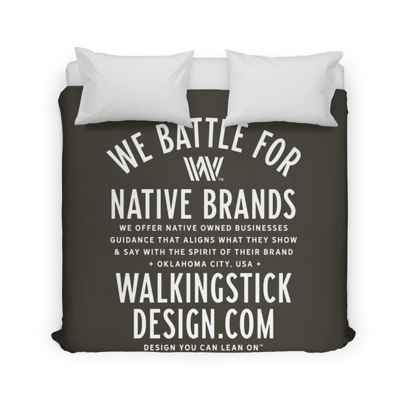 Label  + WalkingStick Design Co. Home Duvet by WalkingStick Design's Artist Shop