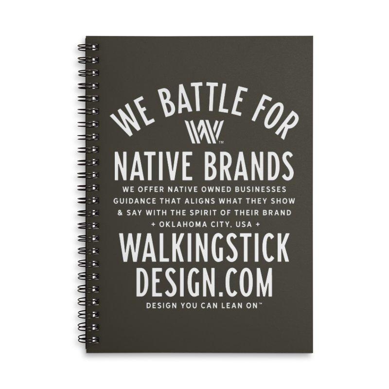 Label  + WalkingStick Design Co. Accessories Lined Spiral Notebook by WalkingStick Design's Artist Shop