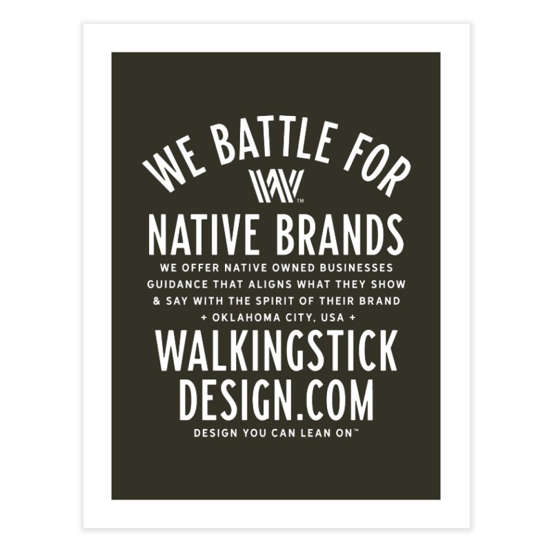 Label  + WalkingStick Design Co. Home Fine Art Print by WalkingStick Design's Artist Shop