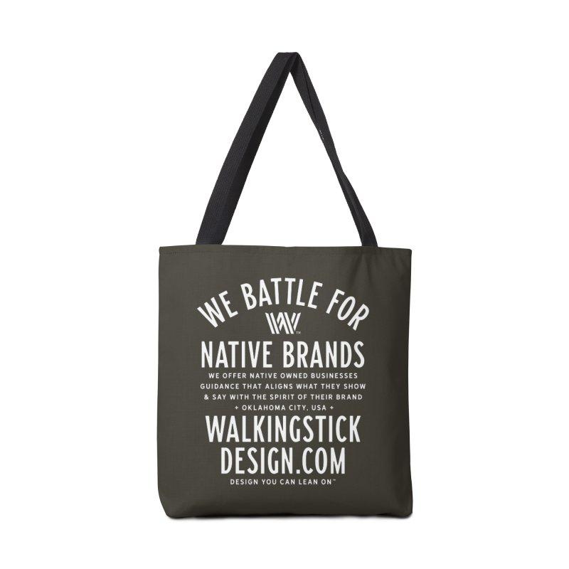Label  + WalkingStick Design Co. Accessories Tote Bag Bag by WalkingStick Design's Artist Shop