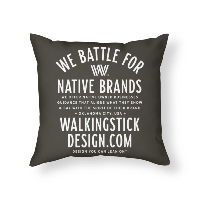 Label  + WalkingStick Design Co. Home Throw Pillow by WalkingStick Design's Artist Shop