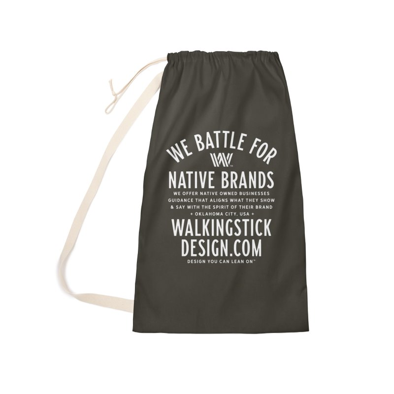 Label  + WalkingStick Design Co. Accessories Laundry Bag Bag by WalkingStick Design's Artist Shop