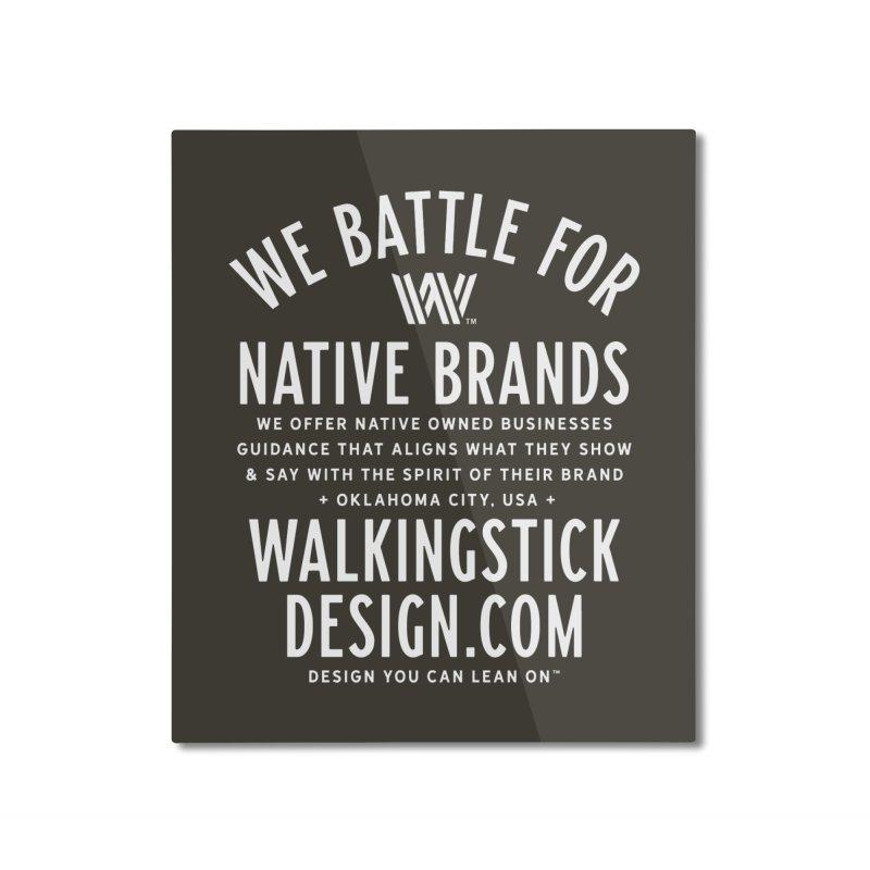 Label  + WalkingStick Design Co. Home Mounted Aluminum Print by WalkingStick Design's Artist Shop