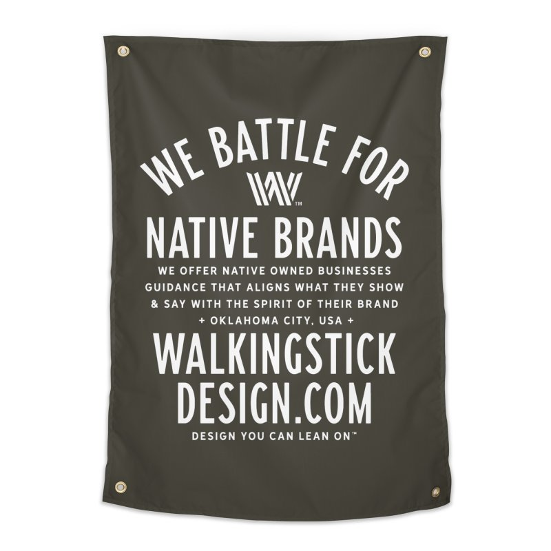 Label  + WalkingStick Design Co. Home Tapestry by WalkingStick Design's Artist Shop