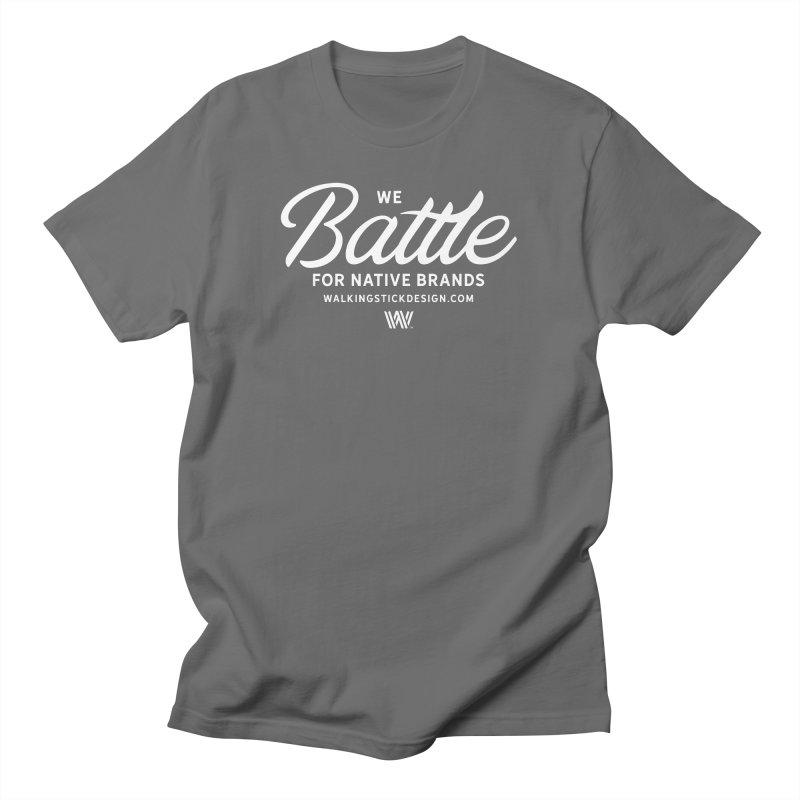 Battle + WalkingStick Design Co. Men's T-Shirt by WalkingStick Design's Artist Shop