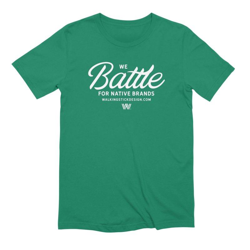 Battle + WalkingStick Design Co. Men's Extra Soft T-Shirt by WalkingStick Design's Artist Shop