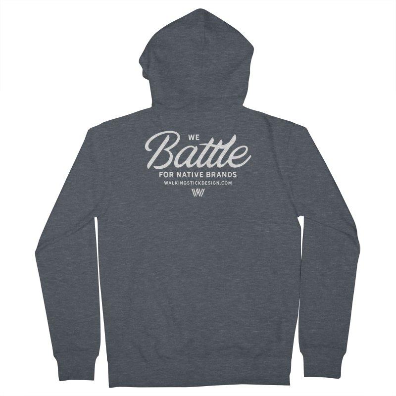 Battle + WalkingStick Design Co. Men's French Terry Zip-Up Hoody by WalkingStick Design's Artist Shop