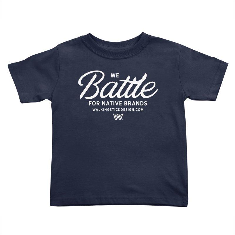 Battle + WalkingStick Design Co. Kids Toddler T-Shirt by WalkingStick Design's Artist Shop