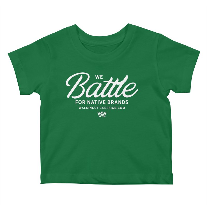 Battle + WalkingStick Design Co. Kids Baby T-Shirt by WalkingStick Design's Artist Shop