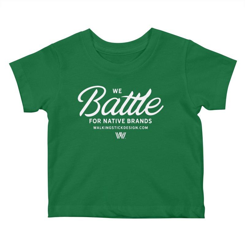 Battle + WalkingStick Design Co. Kids Baby T-Shirt by WalkingStick Design's Artist Shop