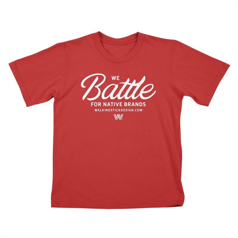 Battle + WalkingStick Design Co. Kids T-Shirt by WalkingStick Design's Artist Shop