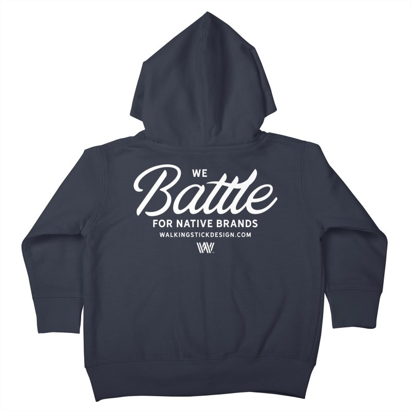 Battle + WalkingStick Design Co. Kids Toddler Zip-Up Hoody by WalkingStick Design's Artist Shop
