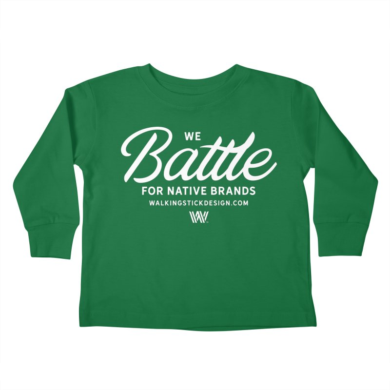 Battle + WalkingStick Design Co. Kids Toddler Longsleeve T-Shirt by WalkingStick Design's Artist Shop
