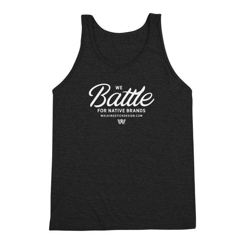 Battle + WalkingStick Design Co. Men's Triblend Tank by WalkingStick Design's Artist Shop