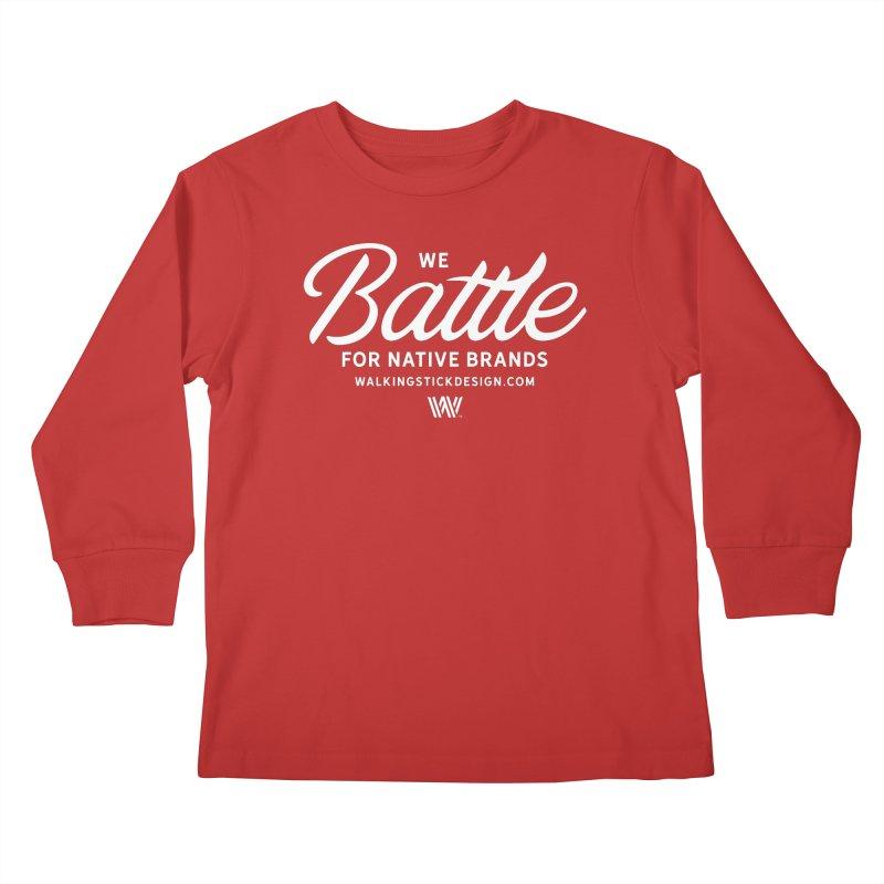 Battle + WalkingStick Design Co. Kids Longsleeve T-Shirt by WalkingStick Design's Artist Shop