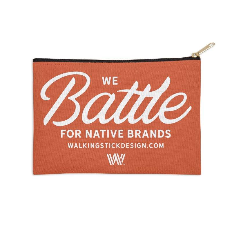 Battle + WalkingStick Design Co. Accessories Zip Pouch by WalkingStick Design's Artist Shop