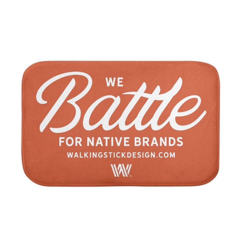 Battle + WalkingStick Design Co. Home Bath Mat by WalkingStick Design's Artist Shop