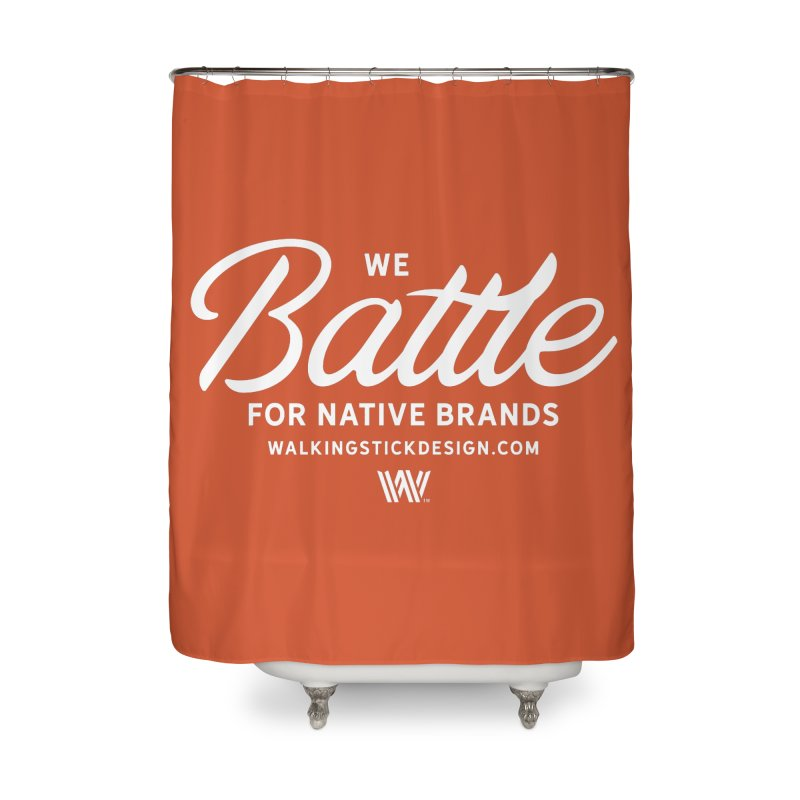 Battle + WalkingStick Design Co. Home Shower Curtain by WalkingStick Design's Artist Shop