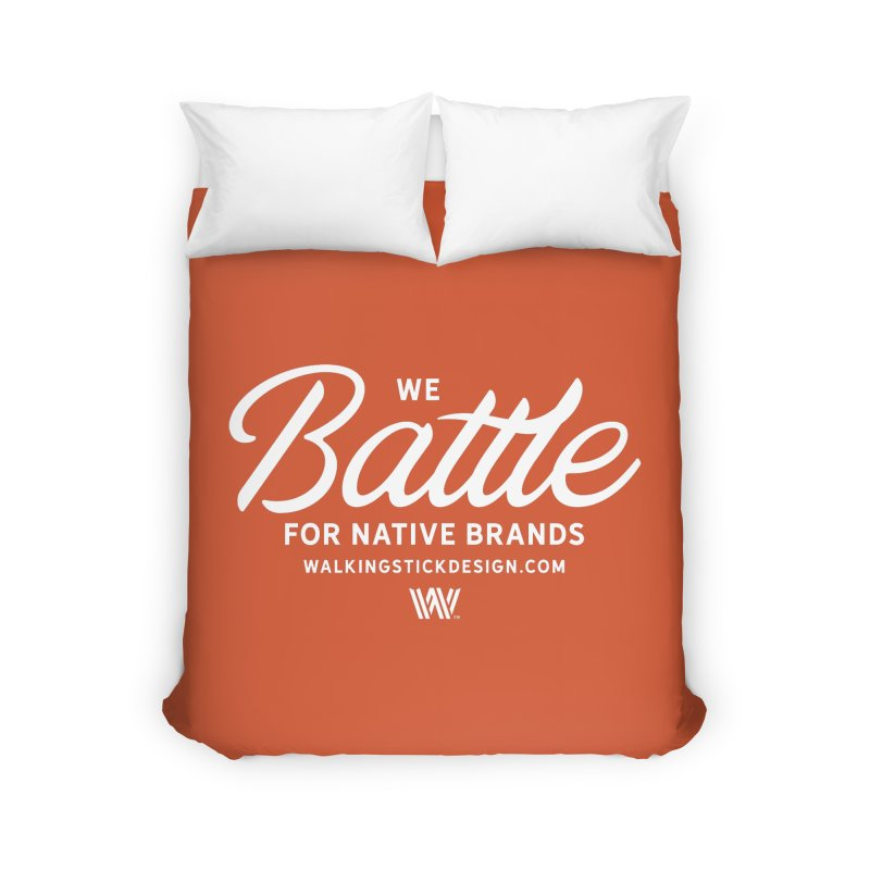 Battle + WalkingStick Design Co. Home Duvet by WalkingStick Design's Artist Shop